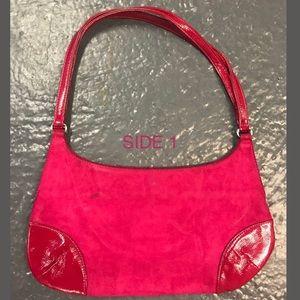 BANANA REPUBLIC Suede Fuchsia Hand/Shoulder Bag